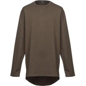 《セール開催中》PUBLISH メンズ スウェットシャツ ミリタリーグリーン S コットン 92% / ポリエステル 6% / ポリウレタン 2%