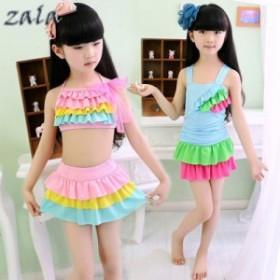 子供水着 女の子 ビキニ セパレート水着 ワンピース型 水着 韓国 水着 スイムウェア 可愛い 速乾キッズ用 S M L XL XXL