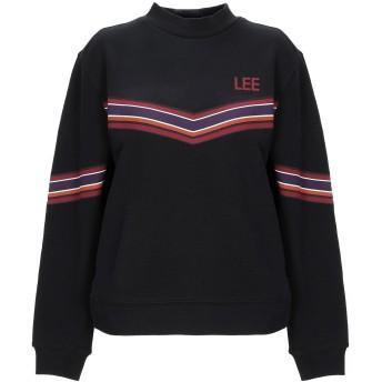《期間限定セール開催中!》LEE レディース スウェットシャツ ブラック XS コットン 100%