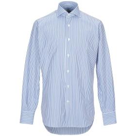 《セール開催中》GUGLIELMINOTTI メンズ シャツ ブルー 38 コットン 100%