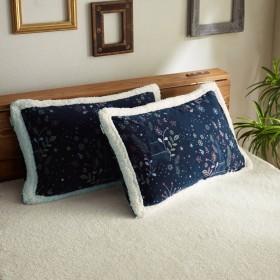 あったか素材の枕カバー2枚セットノエル・パリ