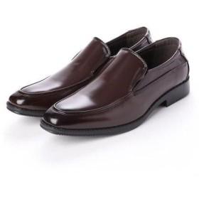 ジーノ Zeeno ビジネスシューズ メンズ 幅広 3EEE 防滑 スリッポン Uチップ モカシン 紳士靴 大きいサイズ対応 キングサイズ (ダークブ