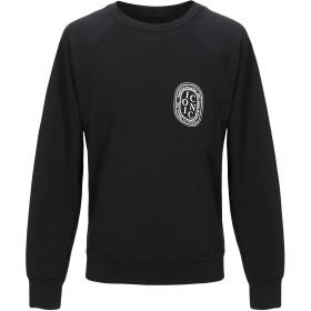 《セール開催中》HAPPINESS メンズ スウェットシャツ ブラック S コットン 100%