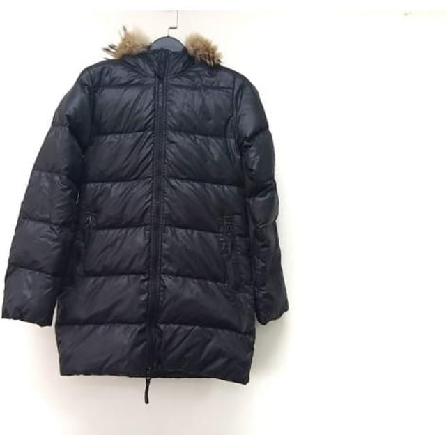 【中古】 デュベティカ ダウンコート サイズ40 M レディース Kappa 黒 ライトブラウン マルチ 冬物