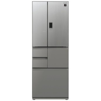 SJ-GX55E-S 冷蔵庫 プラズマクラスター冷蔵庫 エレガントシルバー [6ドア /観音開きタイプ /551L]