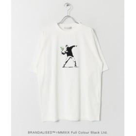 SENSE OF PLACE by URBAN RESEARCH / センスオブプレイス バイ アーバンリサーチ 別注Tシャツ バンクシー Flower Bomber/Do Nothing Monkeysign