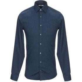 《セール開催中》CALVIN KLEIN メンズ シャツ ダークブルー 37 コットン 98% / ポリウレタン 2%