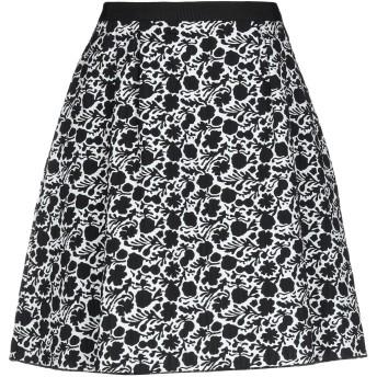 《セール開催中》BLUE LES COPAINS レディース ひざ丈スカート ブラック 40 コットン 85% / ナイロン 13% / ポリウレタン 2%
