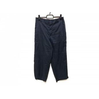 【中古】 ミズイロインド mizuiro ind パンツ サイズ2 M レディース 美品 ネイビー