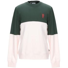 《期間限定 セール開催中》WESC メンズ スウェットシャツ ダークグリーン M コットン 100%