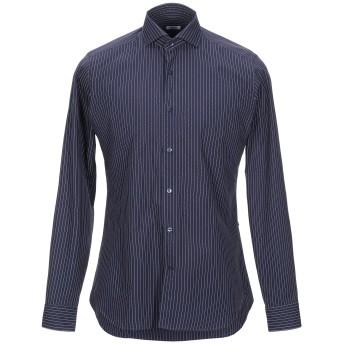 《セール開催中》CALIBAN メンズ シャツ ダークブルー 39 コットン 100%