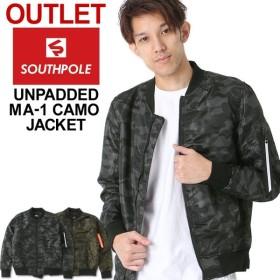 アウトレット 返品・交換・キャンセル不可 │ SOUTH POLE サウスポール ma-1 メンズ 薄手 迷彩 ジャケット