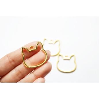 【3個】レジン枠 猫フレーム