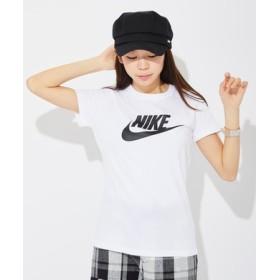 NIKE ロゴプリントTシャツ レディース サックス