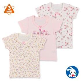 3枚組半袖シャツ(クマぬいぐるみ.小動物)【80cm・90cm・95cm】[肌着 インナー シャツ ベビー 赤ちゃん 女の子 子供 子ども こども ベビ