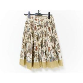 【中古】 インゲボルグ ロングスカート サイズ9 M レディース ベージュ ブラウン マルチ プリーツ