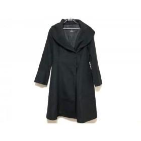 【中古】 イネド INED コート サイズ9 M レディース 黒 冬物/ロング丈