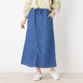 [マルイ]【セール】ソフトデニム裏毛ロングスカート/キューティーブロンド(Cutie Blonde)