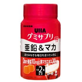 シヤチハタUHAグミサプリ 亜鉛&マカ 30日ボトル 60粒F047759