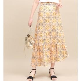 [マルイ]【セール】【セットアップ対応】モザイクパターンアシメスカート/ロペマドモアゼル(ROPE' mademoiselle)