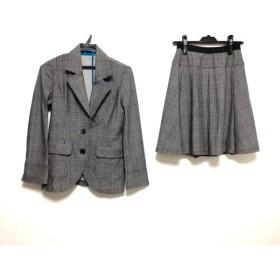 【中古】 レジィーナロマンティコ Regina Romantico スカートスーツ サイズ36 S レディース 美品 黒 白