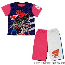 騎士竜戦隊リュウソウジャー カラチェン半袖パジャマ 赤 男の子 キャラクターパジャマ 赤 男の子 パジャマ