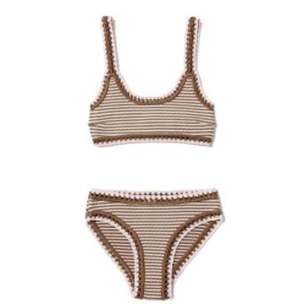 SOLID & STRIPED / Dawn Bikini レディース 水着 BROWN QUARTZ S