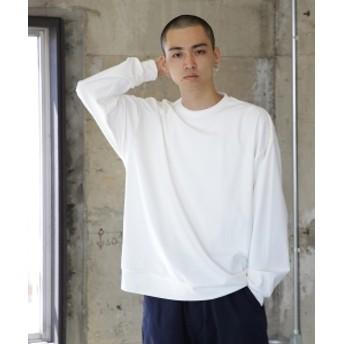 BEAMS / スーパー ストレッチ クルーネック カットソー メンズ Tシャツ WHITE M