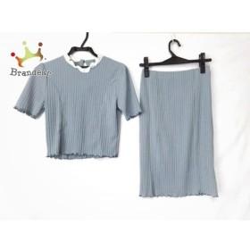 イートミー EATME スカートセットアップ サイズF レディース 美品 ライトブルー×白   スペシャル特価 20190712
