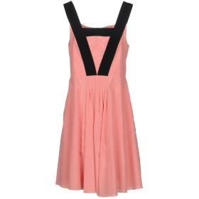 《送料無料》EMPORIO ARMANI レディース ミニワンピース&ドレス サーモンピンク 44 コットン 52% / シルク 48%