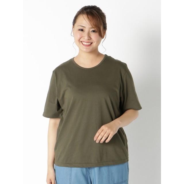 【大きいサイズレディース】【タイムセール!2/25(火)10:59迄】【3-8L】【日本製】さらりとした肌触りで通気性の良い天竺素材Tシャツ トップス Tシャツ
