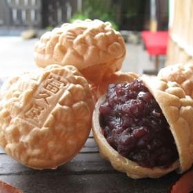 [東松山・富久屋]松ぽっくり8個入(竹皮箱) 和菓子・せんべい