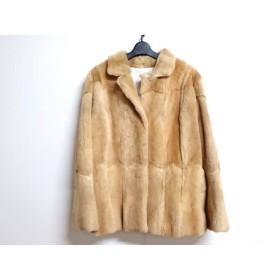 【中古】 ジユウク 自由区/jiyuku コート サイズ46 XL レディース ライトブラウン 冬物/ファー