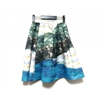 【中古】 マイストラーダ Mystrada スカート サイズ36 S レディース ブルー グリーン マルチ