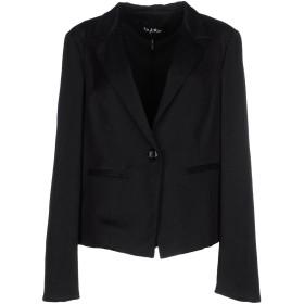 《セール開催中》BYBLOS レディース テーラードジャケット ブラック 44 コットン 58% / ナイロン 38% / ポリウレタン 4%