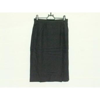 【中古】 レオナール LEONARD ロングスカート サイズ69-94 レディース 黒