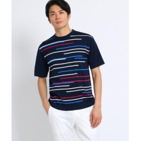 TAKEO KIKUCHI / タケオキクチ ランダムボーダー サマーニットTシャツ