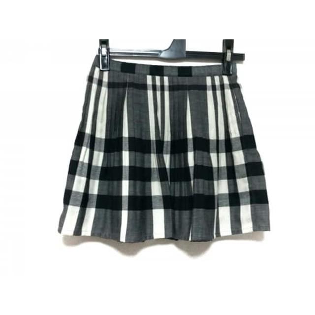 【中古】 バーバリーロンドン Burberry LONDON スカート サイズ130A レディース 黒 グレー 白