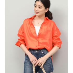 ロペ/【SAFILIN】【洗える】フレンチリネンシャツ/オレンジ/36