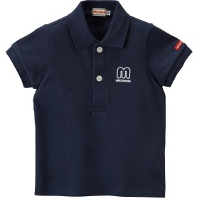 ミキハウス 【アウトレット】mロゴ 半袖ポロシャツ 紺