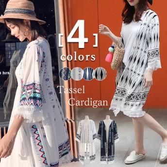 UVケア 冷房対策 アウター/レディース 花柄の着物風ガウン&カーディガン 夏に活躍 韓国ファッション シフォン 日焼け止め