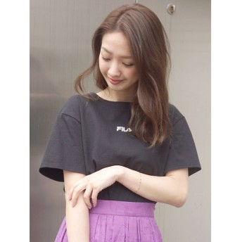 マーキュリーデュオ チビ刺繍Tシャツ レディース ブラック F 【MERCURYDUO】