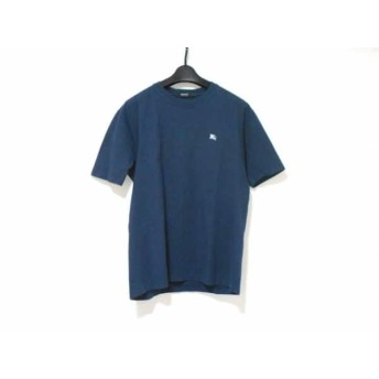 【中古】 バーバリーブラックレーベル 半袖Tシャツ サイズ3 L メンズ ダークネイビー