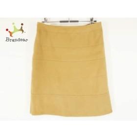 ジユウク 自由区/jiyuku スカート サイズ38 M レディース 美品 ライトブラウン     スペシャル特価 20190815