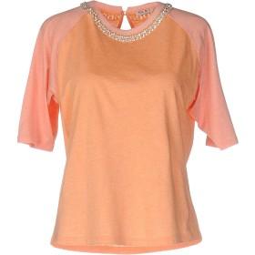 《期間限定セール開催中!》MIU MIU レディース T シャツ オレンジ XS コットン 50% / レーヨン 50%