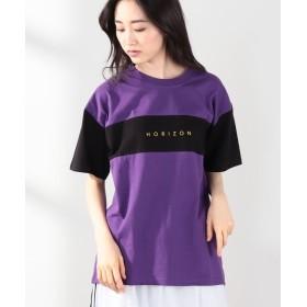 ウィゴー WEGO/切替Tシャツ ユニセックス ブラック F 【WEGO】