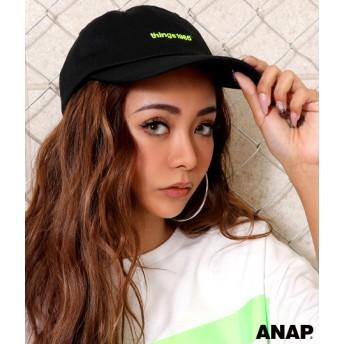 ANAP(アナップ)ネオンロゴ刺繍キャップ