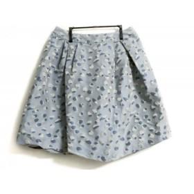 【中古】 トゥービーシック スカート サイズ44 L レディース 美品 ライトブルー ブルー アイボリー 刺繍