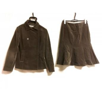 【中古】 ニジュウサンク 23区 スカートスーツ サイズ40 M レディース ダークブラウン ベロア