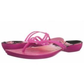 crocs クロックス レディース 女性用 シューズ 靴 サンダル Isabella Graphic Flip Candy Pink/Tropical【送料無料】